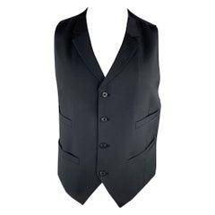 J. LINDEBERG Size 44 Navy Wool Notch Lapel Vest