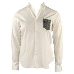COMME des GARCONS SHIRT Size 10 White Cotton Button Up Blouse