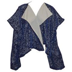 Comme des Garcons 1996 Kimono Cut Velvet Jacket