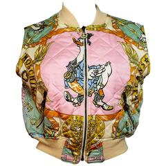 Early 1990's Moschino Jeans Duck Print Gilet