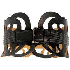 Alaia Leather Lattice Belt