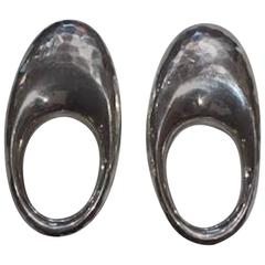 Patricia von Musulin Hammered Sterling Silver Clip Earrings