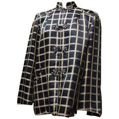 1960s Silk Plaid Jacket