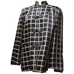 1960s Silk Plaid Jacket