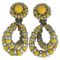 Francoise Montague Yellow Lolita Clip Earrings