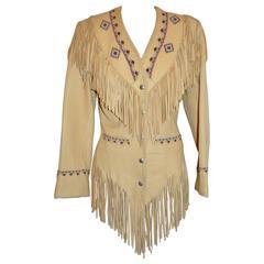 West of Santa Fe Chamois Lambskin Hand-Made Fringe Jacket