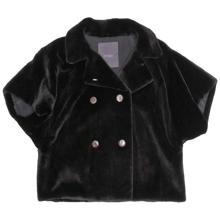 Fendi Black Mink Jacket