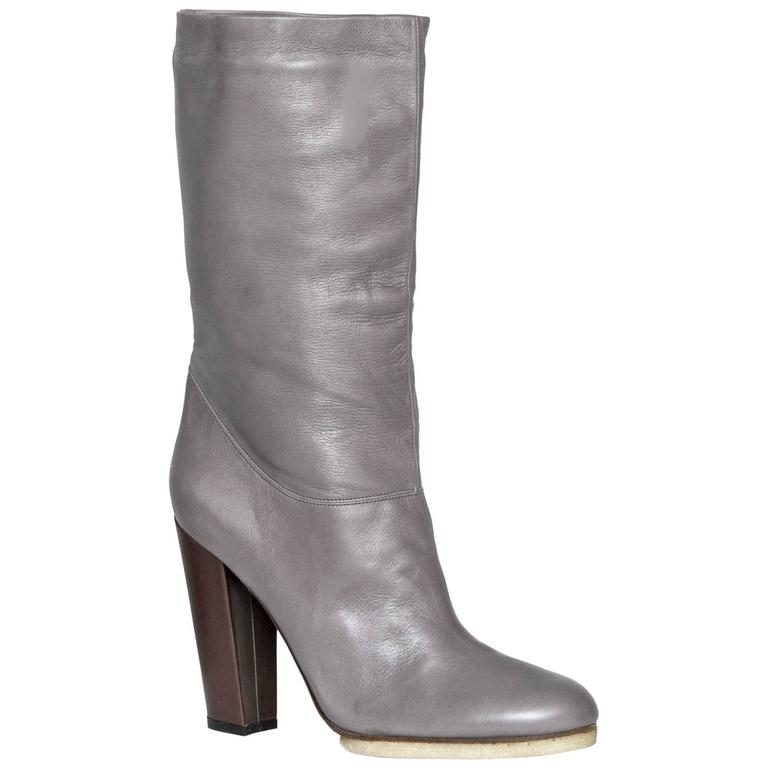 Lanvin Grey Leather Boots