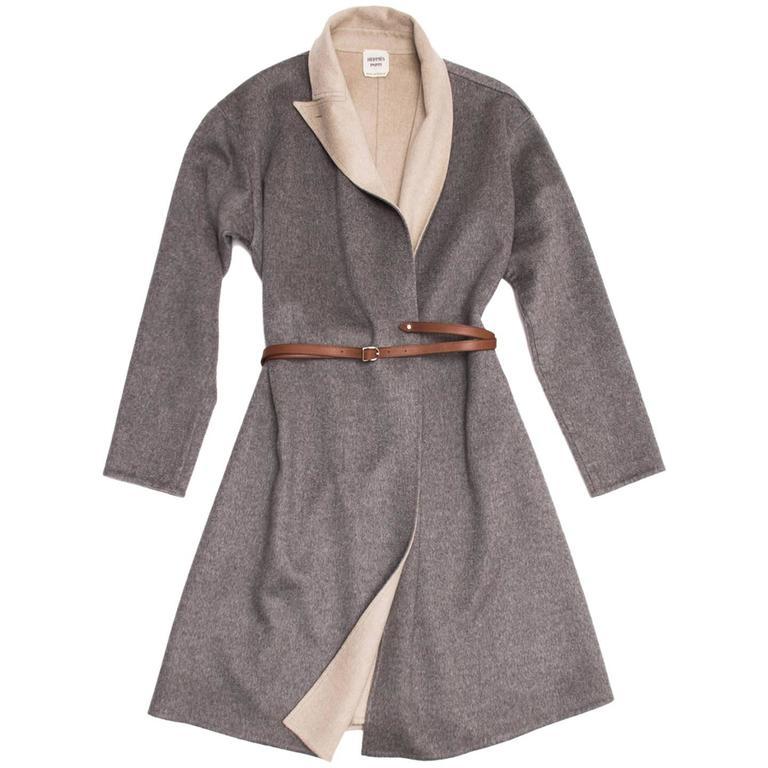 Hermès Cashmere Belted Coat For Sale