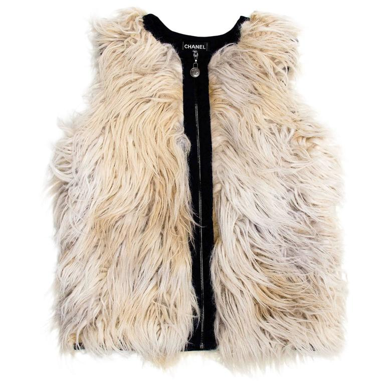 Chanel Wool Faux Fur Vest