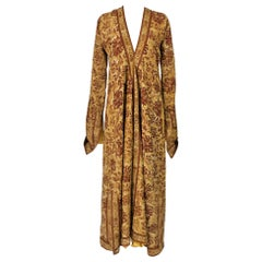 Evening coat or Kaftan in printed cotton by Mariano Fortuny Circa 1950