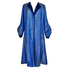Evening coat in silver lamé by Germaine Lecomte numbered 03871 Paris Circa 1930