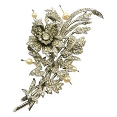 A very large paste 'en tremblant' brooch, Christian Dior by Mitchel Maer 1950s