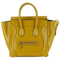 2014 Céline Chartreuse Yellow Smooth Calfskin Mini Luggage Tote