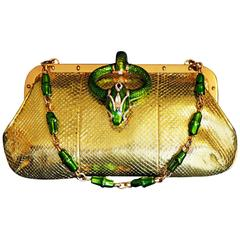 That Highly Sought After Gilded Python Tom Ford For Gucci SS 2004 Runway Bag!
