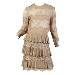 Valentino Boutique Lace Blouse and Skirt