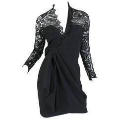 Thierry Mugler Asymetrical Lace Dress