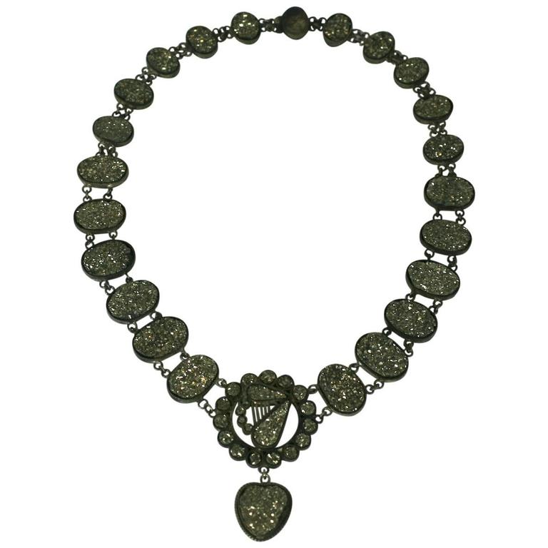 Wonderful Victorian Pyrite Necklace For Sale