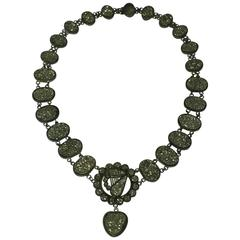 Wonderful Victorian Pyrite Necklace