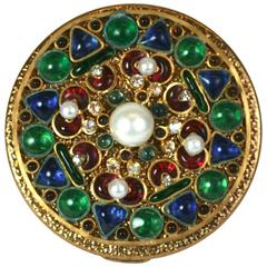 Maison Gripoix Byzantine Poured Glass Compact