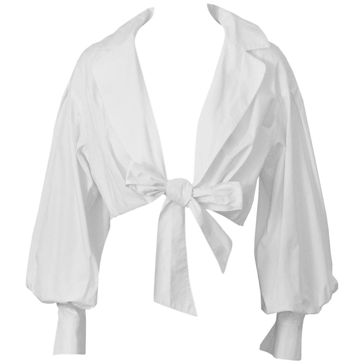 how to make an assymetrical collar with tie up bow