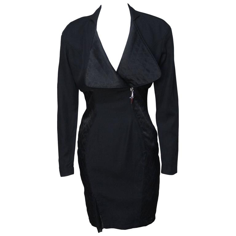 Thierry Mugler Sexy Fitted Siren Dress For Sale