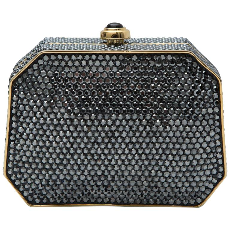 Judith Leiber Crystal Clutch With Gold Hardware 1
