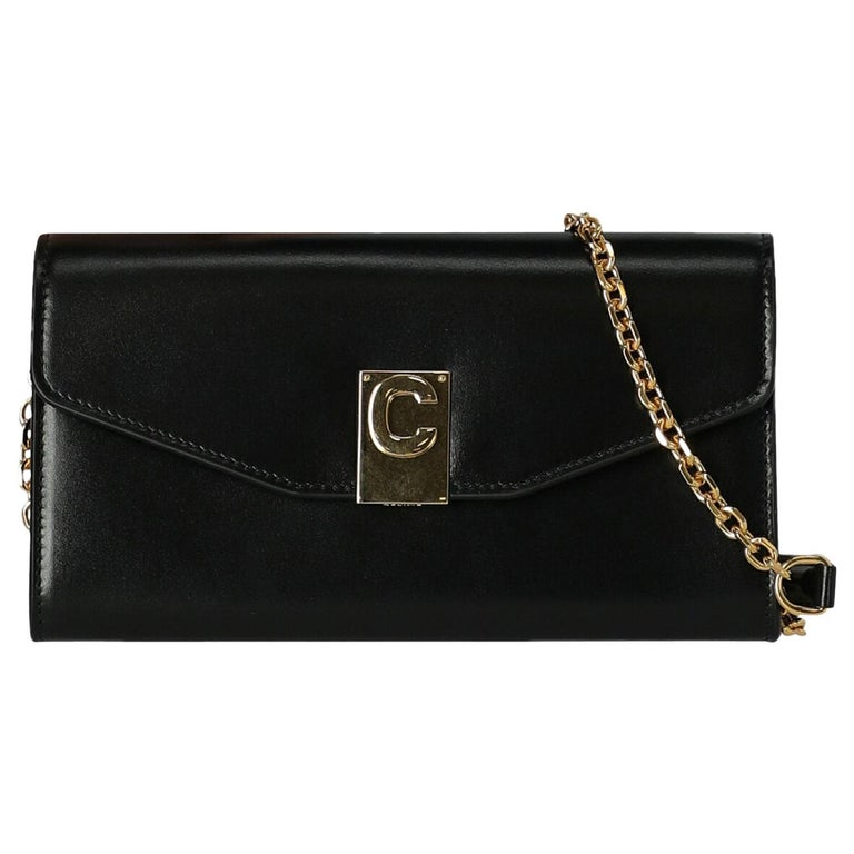 Celine  Women Shoulder bags Black Leather For Sale