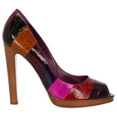 Sergio Rossi  Women   Pumps  Multicolor Leather EU 38