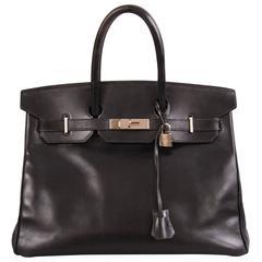 Hermes Black Birkin Bag, 35 cm