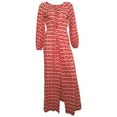 Estevez by Eva Gabor for Saks Fifth Avenue Long Lounge Dress Size 6.
