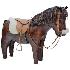 Leather Horse  By Dimitri Omersa For Abercrombie & Fitch
