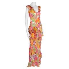 Christian Dior By John Galliano Ruffle Evening Dress, Circa 2005
