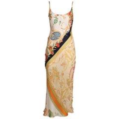 Salvatore Ferragamo Scarf-Like Printed Silk Slip Dress & Blouse Set