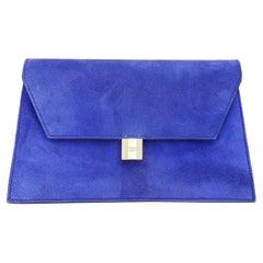 Hermès Padlock Bag Clutch Purse Doblis Leather Purple and Golden Hdw RARE