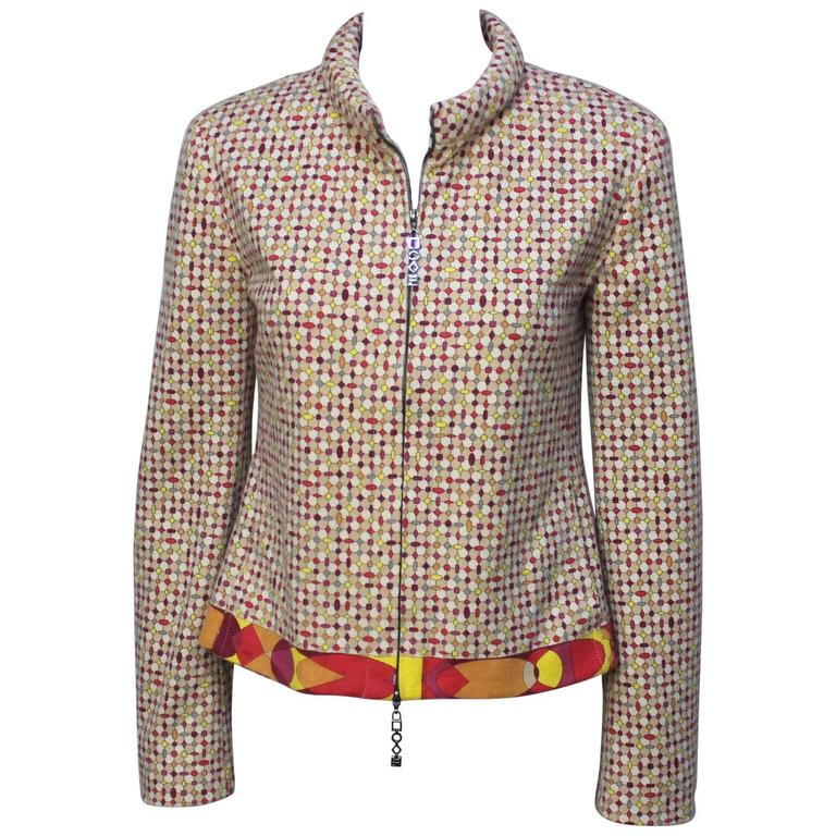 Emilio Pucci Geometric Print Wool Jacket