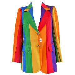 1970s Iconic Moschino Rainbow jacket