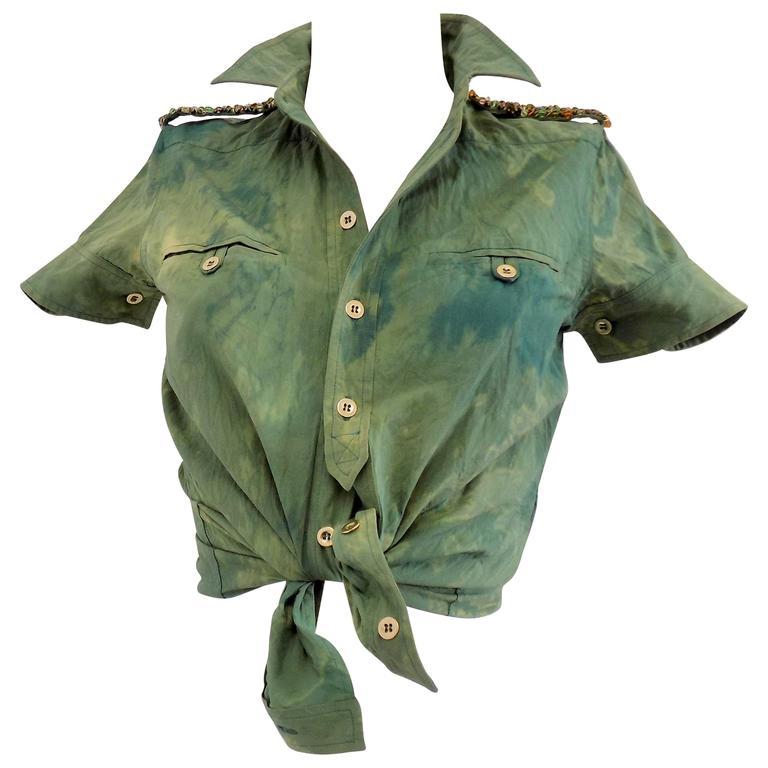 1990s Balenciaga Green shirt 1