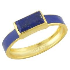 Lapis Enamel Ring