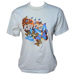 1980s Kenzo Jungle Embroidered Butterfly Tee