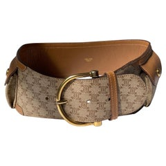 Celine Triomphe Canvas Pockets Belt Extra Small