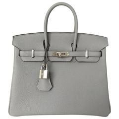 25 cm Birkin in pale greyish blue