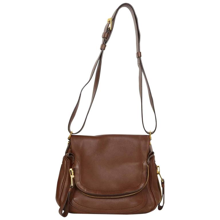f2b6de103 Tom Ford Brown Leather 'Jennifer Aniston' Crossbody Bag GHW at 1stdibs