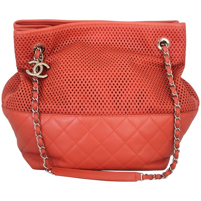 "Chanel Coral Spring North/South ""Up in the Air"" Tote - circa spring 2013 1"