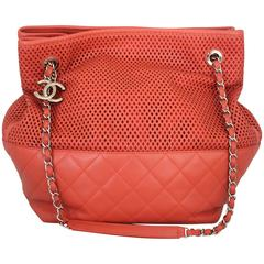 """Chanel Coral Spring North/South """"Up in the Air"""" Tote - circa spring 2013"""