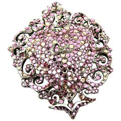 Christian Lacroix Vintage Massive Heart Brooch and Pendant