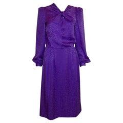 Vintage Donald Campbell Purple Silk Dress