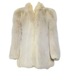 Yves St Laurent 70's Vintage Cream Fox Fur Coat