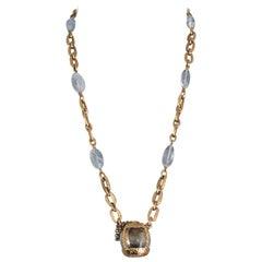 Yves Saint Laurent Vintage Rare Champagne Necklace