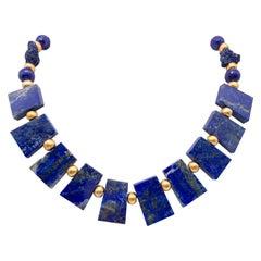 A.Jeschel Fabulous Lapis Lazuli Collar necklace